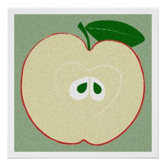 Apple, Kitchen Art, Food, Minimalist Poster