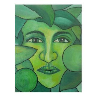 Apple Lady Postcard