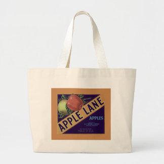 Apple Lane Fruit Crate Label Tote Tote Bag