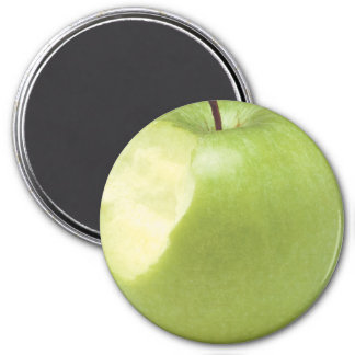 Apple Large, 3 Inch Round Magnet