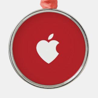 Apple Love Christmas Ornament