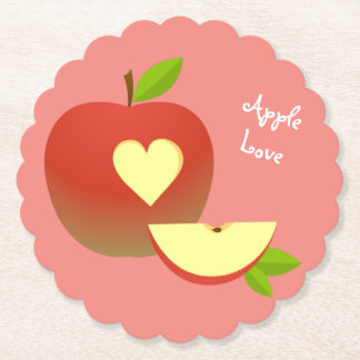 Apple Love Paper Coaster