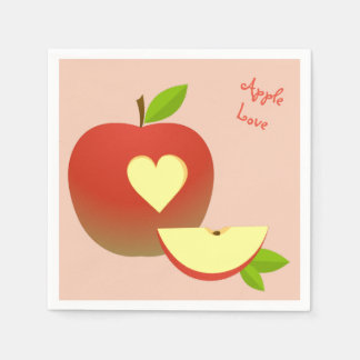 Apple Love Paper Napkin