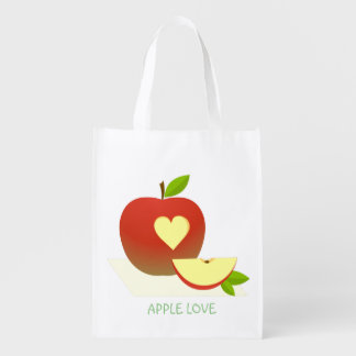 Apple Love Reusable Grocery Bag