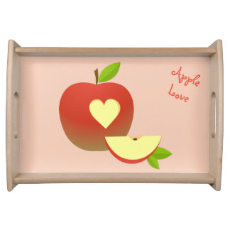 Apple Love Serving Tray
