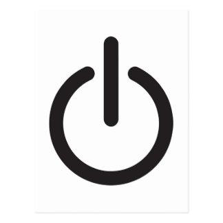 Apple mac power button postcard