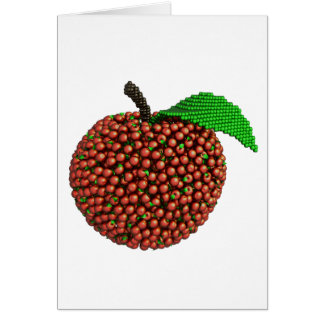 Apple made of apples card