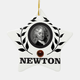 apple newton art christmas ornament