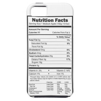 apple nutrition facts iPhone 5 cover
