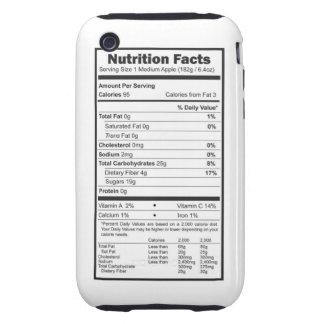 apple nutrition facts tough iPhone 3 case