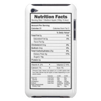 apple nutrition facts iPod touch cases