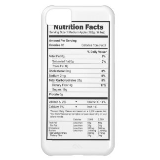 apple nutrition facts cover for iPhone 5C