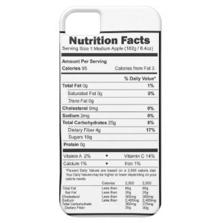 apple nutrition facts case for the iPhone 5