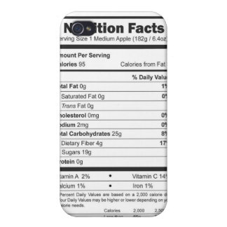 apple nutrition facts iPhone 4/4S cases