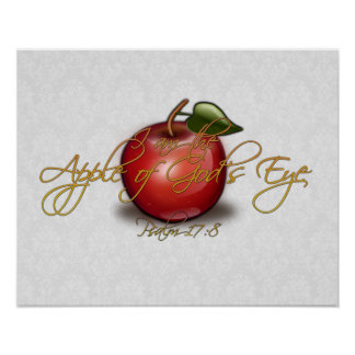 Apple of God's Eye, Christian Poster