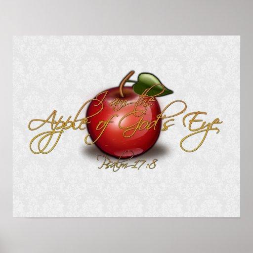 Apple of God's Eye, Christian Print