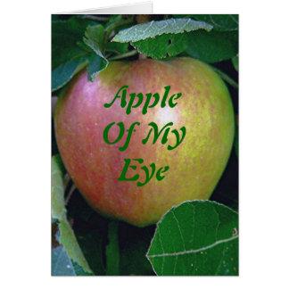 """Apple Of My Eye"" (apple photo) Greeting Card"