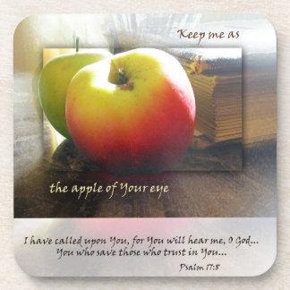 Apple of My Eye Christian Scripture Coasters