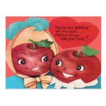 Apple Of My Eye Heart Valentine Postcards