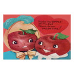 Apple Of My Eye Heart Valentine Posters