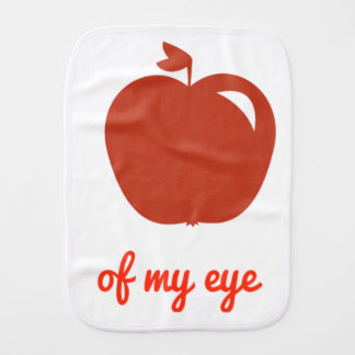Apple of my eye merchandise burp cloth