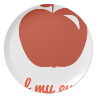 Apple of my eye merchandise plate