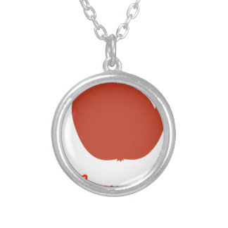 Apple of my eye merchandise silver plated necklace