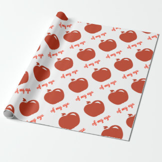 Apple of my eye merchandise wrapping paper