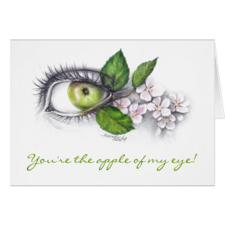 Apple of my eye Pencil art Greeting card