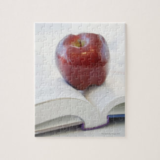 Apple on Open Text Book Jigsaw Puzzle