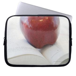 Apple on Open Text Book Laptop Sleeve