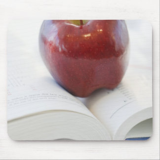 Apple on Open Text Book Mouse Pad