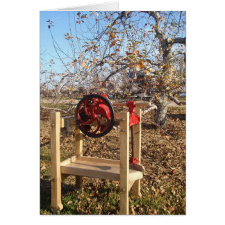 Apple Orchard and Press Greeting Card
