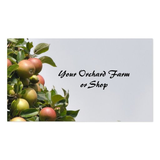 Apple orchard business card