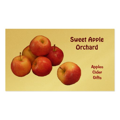 Apple Orchard Business Card Template