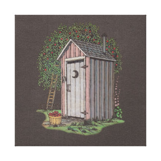 Apple Orchard Outhouse Stretched Canvas Prints