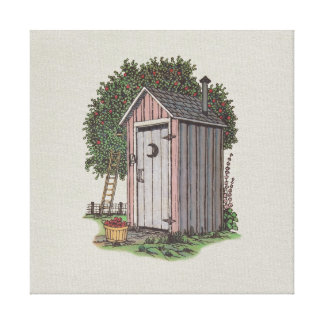 Apple Orchard Outhouse Gallery Wrapped Canvas