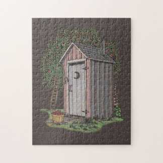 Apple Orchard Outhouse Jigsaw Puzzle