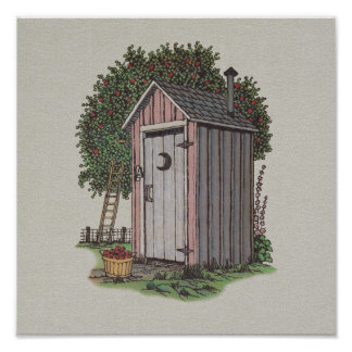 Apple Orchard Outhouse Poster