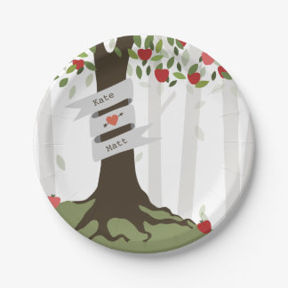 Apple Orchard Wedding 7 Inch Paper Plate
