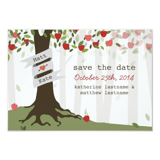 Apple Orchard Wedding Fall Autumn Save The Date Card