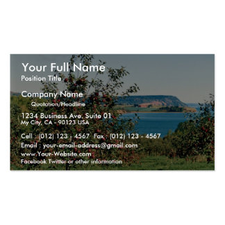 Apple orchard with Cape Blomindon in background, N Business Card Template