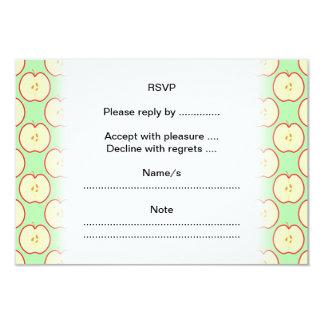 Apple pattern. card