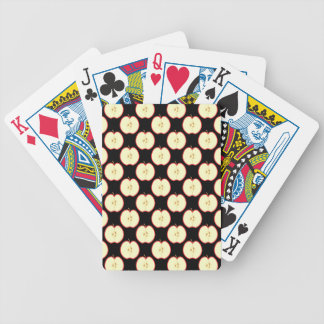Apple Pattern. On Black. Bicycle Playing Cards