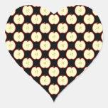 Apple Pattern. On Black. Sticker