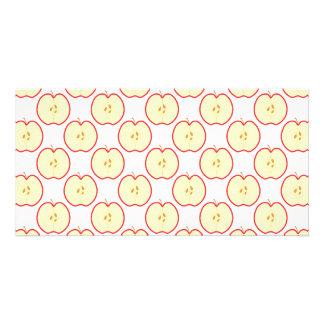 Apple pattern photo card