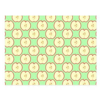 Apple pattern post card
