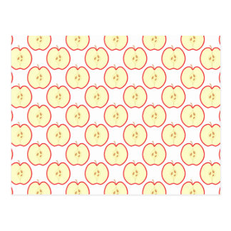 Apple pattern. postcard