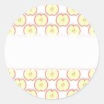Apple pattern. stickers