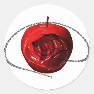 Apple_Pi Round Sticker
